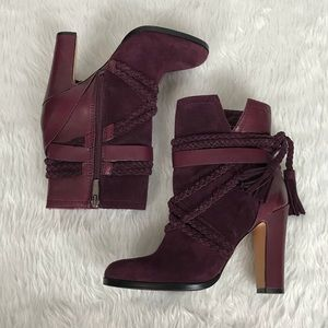 💥Vince Camuto Cyndia burgundy leather boots